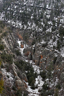 Walnut Canyon In Flagstaff In Winter 4 Poster