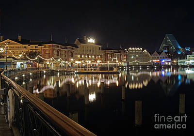Walt Disney World - Boardwalk Villas  Poster by AK Photography