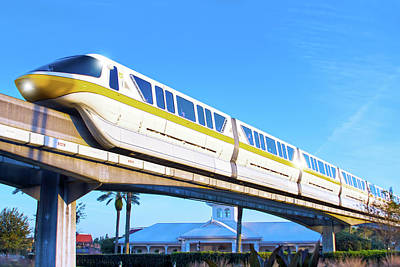 Poster featuring the photograph Walt Disney World Monorail by Mark Andrew Thomas