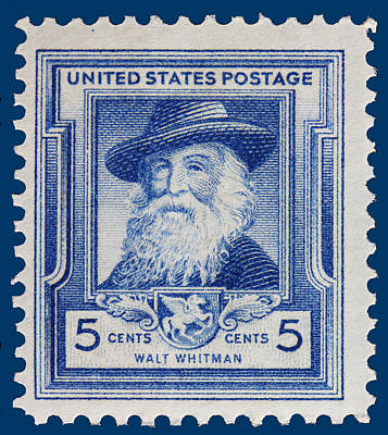 Walt Whitman Postage Stamp Poster by James Hill