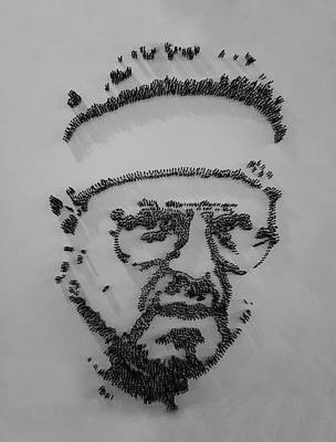 Walter Sobchak Nailed Black And White Poster