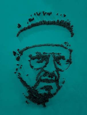 Walter Sobchak Nailed Blue Poster