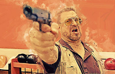 Walter Sobchak - The Big Lebowski Poster by Afterdarkness