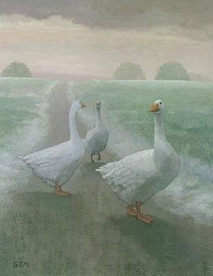 Wandering Geese Poster
