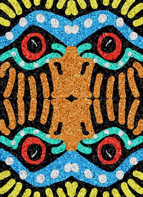 War Eagle Totem Mosaic Poster