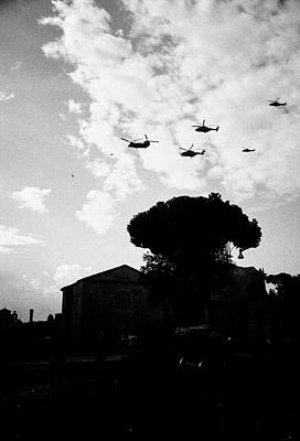 War Helicopters Over The Imperial Fora Poster