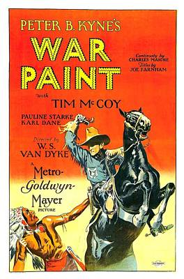 War Paint 1926 Poster by Mountain Dreams