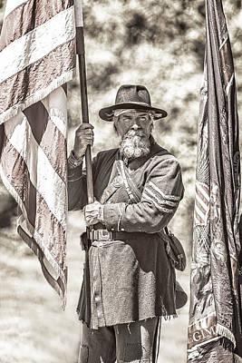 War Torn Flag Bearer Poster
