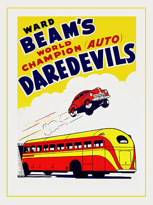 Ward Beams Daredevils Poster by Mark Rogan