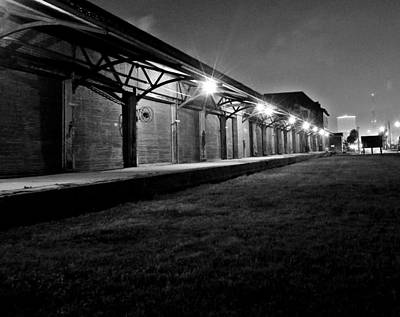 Poster featuring the photograph Warehouse At Night by John Collins