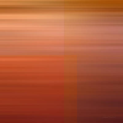 Warm Abstract Poster by Leland D Howard
