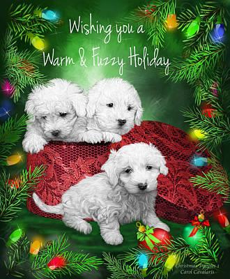 Warm Fuzzy Holiday Poster by Carol Cavalaris
