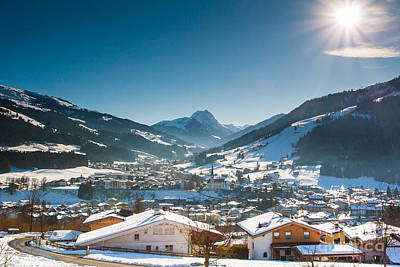 Warm Winter Day In Kirchberg Town Of Austria Poster