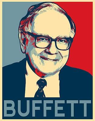 Warren Buffett Poster by MotionAge Designs