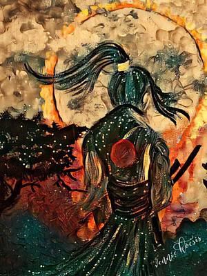Warrior Moon Poster by Vennie Kocsis