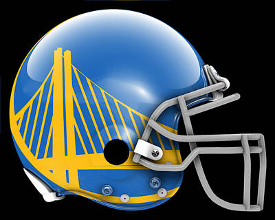 Warriors What If Its Football Poster by Joe Hamilton