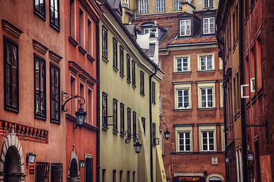 Warsaw Old Town Charm Poster
