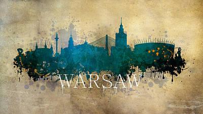 Warsaw Poland Poster by Jaroslaw Blaminsky