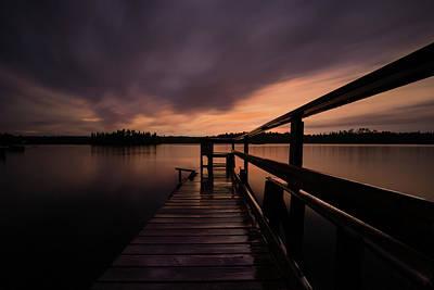 Wartman Lake Dock After Rain Poster
