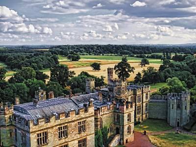 Warwick Castle Landscape Poster by Ron Grafe