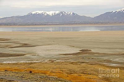 Wasatch Mountains From Antelope Island Poster