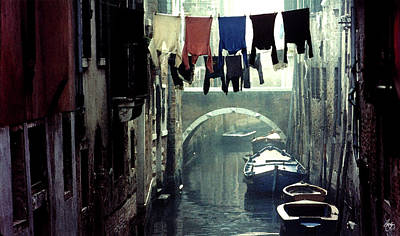 Washday In Venice Italy Poster