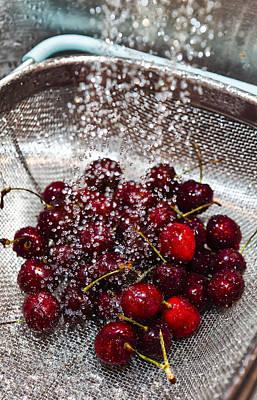 Washing Cherries Poster by Jon Glaser