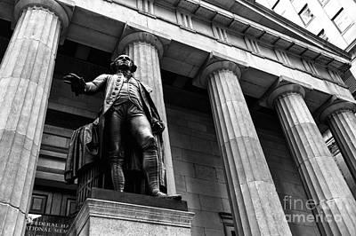 Washington At Federal Hall Mono Poster by John Rizzuto