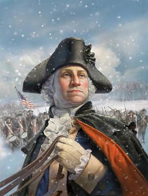 Washington At Valley Forge Poster