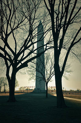 Washington Monument On A Winter Day Poster