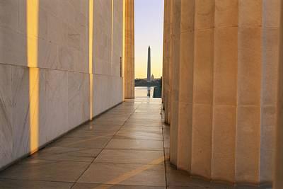 Washington Monument Seen Poster by Sisse Brimberg