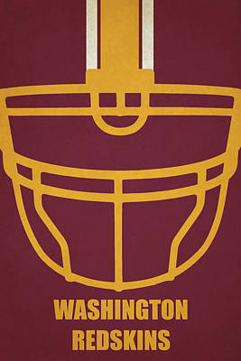 Washington Redskins Helmet Art Poster