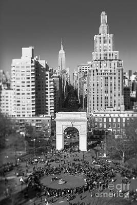 Washington Square Arch And Fifth Ave Architecture Nyc Poster by Anne Ruthmann