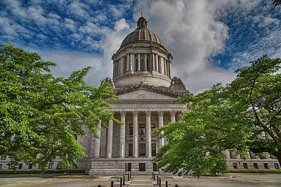 Washington State Capitol Poster by Stephen Stookey