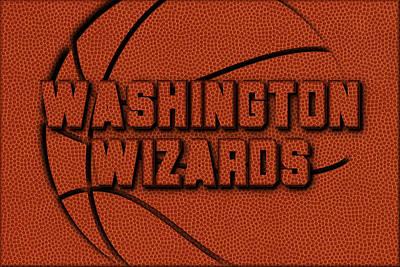 Washington Wizards Leather Art Poster