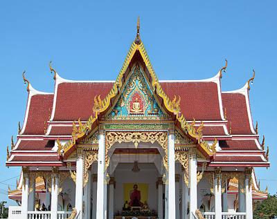 Wat Ratcha Khruet Wihan Of Luang Phawphiphatrohmkahnee Roof Dthb0895 Poster