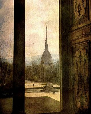 Watching Antonelliana Tower From The Window Poster by Vittorio Chiampan