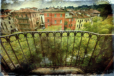 Watching From The Balcony Poster by Vittorio Chiampan