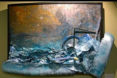 Poster featuring the mixed media Water Abstract #31017 by Robert Anderson