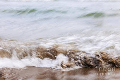Water And Sand Abstract 3 Poster by Elena Elisseeva