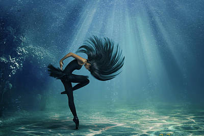 Water Ballet Poster by Debby Herold
