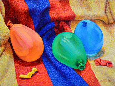 Water Balloons Poster by Kenneth Cobb
