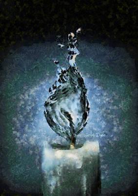Water Candle - Da Poster by Leonardo Digenio