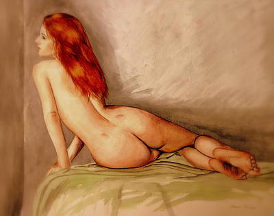 Water Colour Nude 1 Poster