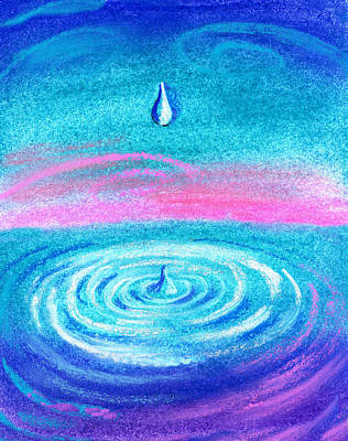 Water Drop Poster by Leon Zernitsky