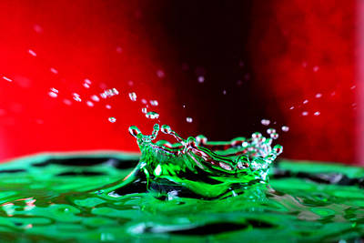 Water Drop Splashing Poster by Paul Ge