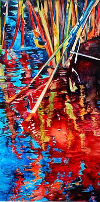 Water Fireworks II Poster by Trish McKinney