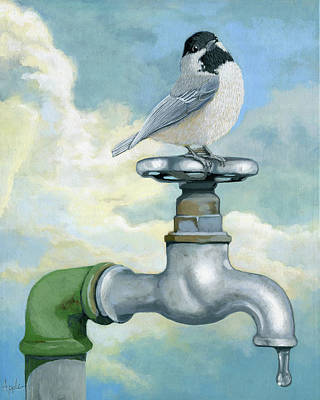 Poster featuring the painting Water Is Life - Realistic Painting by Linda Apple