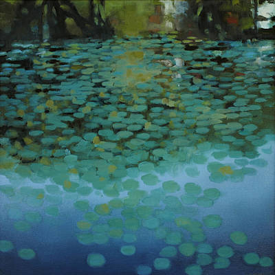 Water Lilies 3 Poster by Cap Pannell