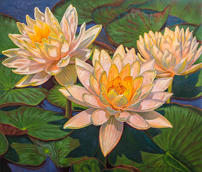 Water Lilies 6 Poster by Fiona Craig
